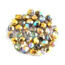 Cseh csiszolt golyó gyöngy - crystal golden rainbow -8mm