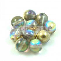 Cseh préselt golyó gyöngy - Crystal Golden Rainbow - 8mm