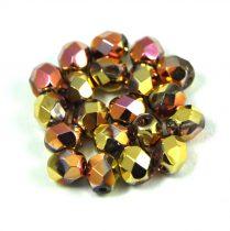 Cseh csiszolt golyó gyöngy - crystal california pink -6mm