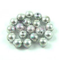 Préselt golyó gyöngy- Crystal Glittery Silver - 4mm