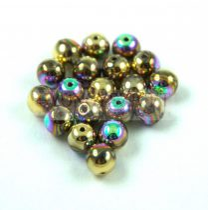 Préselt golyó gyöngy- Crystal Glittery Amber - 6mm
