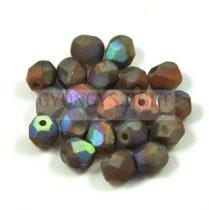 Cseh csiszolt golyó gyöngy - crystal matte iris terracotta -6mm