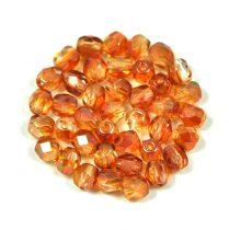 Cseh csiszolt golyó gyöngy - kristály-apricot-4mm
