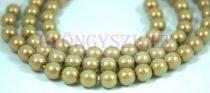 Cseh préselt golyó - pastel khaki golden shine -8mm
