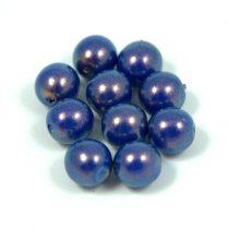 Cseh préselt golyó - royal blue golden shine -8mm