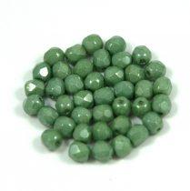 Cseh csiszolt golyó gyöngy - alabaster green gray luster - 4mm