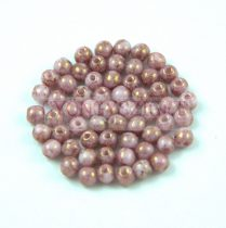 Cseh préselt golyó - Alabaster Purple Terracotta - 3mm