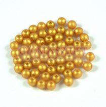 Cseh préselt golyó gyöngy - gold shine gold - 3mm