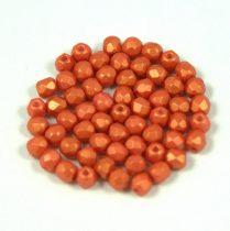 Cseh csiszolt golyó gyöngy - gold shine orange - 3mm