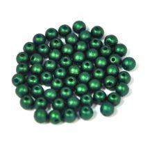 Cseh préselt golyó gyöngy - gold shine dark green - 3mm