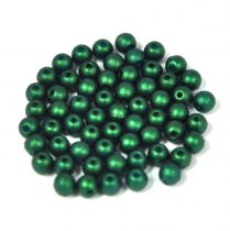 Cseh préselt golyó gyöngy - gold shine dark green - 3mm