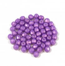 Czech Firepolished Round Glass Bead - gold shine orchid - 3mm