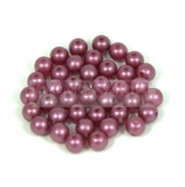 Cseh préselt golyó gyöngy - pastel burgundy - 3mm