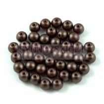 Cseh préselt golyó gyöngy - Pastel Chocolate -4mm-p