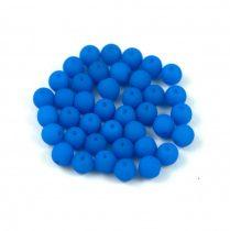 Préselt golyó gyöngy- silk satin matte capri - 4mm
