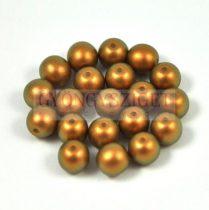 Cseh préselt golyó gyöngy - powder golden shine -4mm