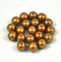 Cseh préselt golyó gyöngy - powder golden shine -6mm