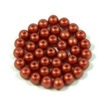 Cseh préselt golyó gyöngy - copper red golden shine -4mm