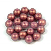 Cseh préselt golyó gyöngy - rose bronze golden shine -4mm
