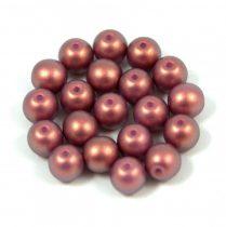 Cseh préselt golyó gyöngy - rose bronze golden shine -6mm