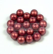 Cseh préselt golyó gyöngy - pommegranate golden shine -4mm