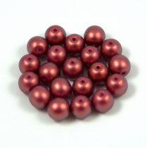 Cseh préselt golyó gyöngy - pommegranate golden shine -6mm