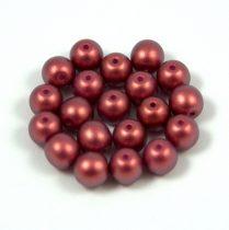Cseh préselt gyöngy - pommegranate golden shine - 8mm