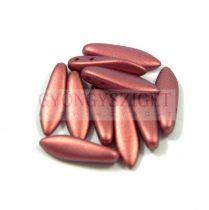 Lándzsa (szirom) cseh préselt üveggyöngy két lyukkal - pommegranate golden shine -5x16mm