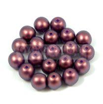 Cseh préselt golyó gyöngy - purple bronze golden shine -4mm