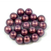 Cseh préselt golyó gyöngy - Purple Bronze Golden Shine - 4mm
