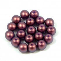 Cseh préselt gyöngy - purple bronze golden shine - 8mm