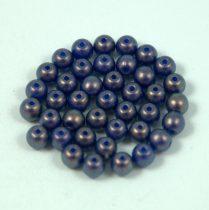Cseh préselt golyó gyöngy - sapphire golden shine -4mm