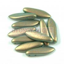 Lándzsa (szirom) cseh préselt üveggyöngy két lyukkal - light blue golden shine -5x16mm