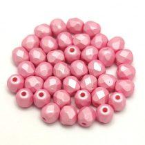 Cseh csiszolt golyó gyöngy - Silk Satin Pink - 4mm