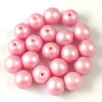 Cseh préselt golyó gyöngy - Silk Satin Pink - 3mm