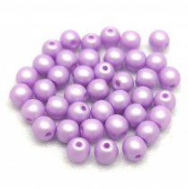 Cseh préselt golyó gyöngy - Silk Satin Purple - 4mm