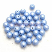 Cseh préselt golyó gyöngy - Silk Satin Blue - 3mm
