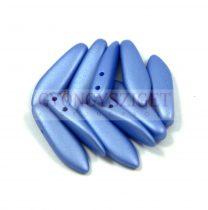 Lándzsa (szirom) cseh préselt üveggyöngy két lyukkal - silk satin sapphire -5x16mm