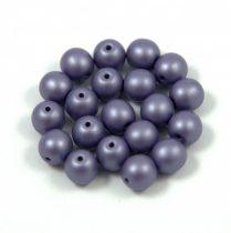 Cseh préselt golyó gyöngy - Silk Satin Lavender - 6mm