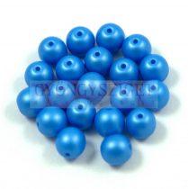 Cseh préselt golyó gyöngy - silk satin blue - 4mm