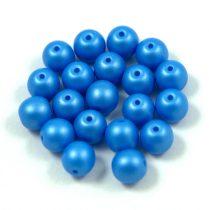 Cseh préselt golyó gyöngy - silk satin blue - 6mm