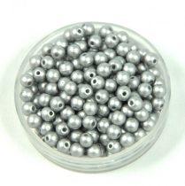 Cseh préselt golyó gyöngy - polichrome metallic silver - 3mm