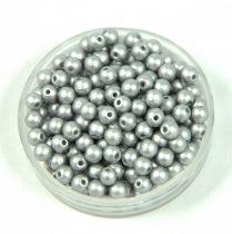 Préselt golyó gyöngy- metál polichrome ezüst -3mm