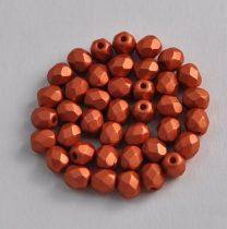Cseh csiszolt golyó gyöngy- metal polichrome bronz -4mm