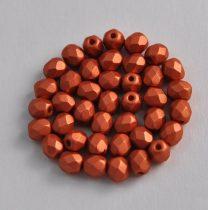 Cseh csiszolt golyó gyöngy - Metallic Polichrome Bronze - 4mm
