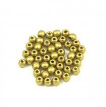 Cseh préselt golyó gyöngy - polichrome metallic gold - 2mm