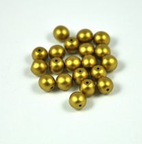 Préselt golyó gyöngy- metál polichrome óarany -4mm