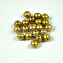 Cseh préselt golyó gyöngy - polichrome metallic gold - 6mm