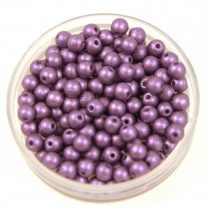 Cseh préselt golyó gyöngy - polichrome metallic purple - 3mm