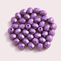 Cseh csiszolt golyó gyöngy- polichrome lilac -4mm